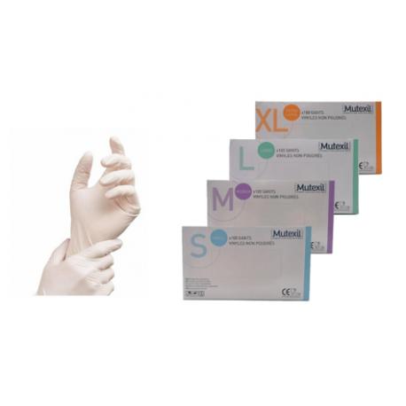 Boite de 100 gants vinyles - blanc - non poudrés , ambidextres -